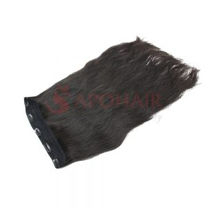 Clip-in hair Straight Black color
