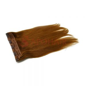 Clip-in hair Straight Light brown color