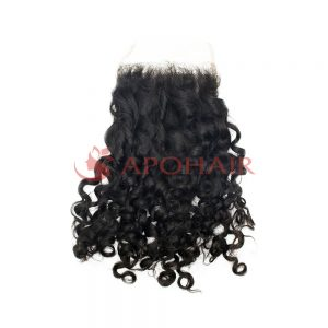 01 closure romantic curly black 4x4