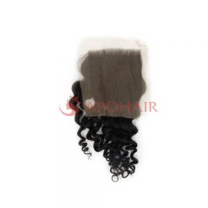closure deep wavy black