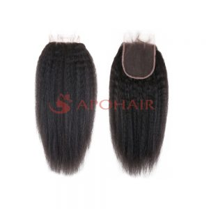 closure kinky straight black 4x4