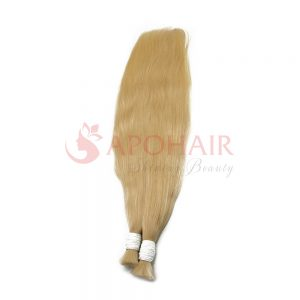 Bulk hair Straight Blonde color