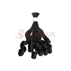 Bulk hair Bouncy wavy Black color