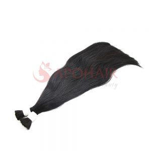 Bulk hair black color straight