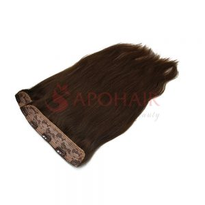 Clip-in hair Straight Brown color