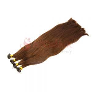 I-tip hair Straight Dark brown color