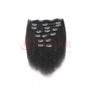 Bulk hair Kinky straight Black color