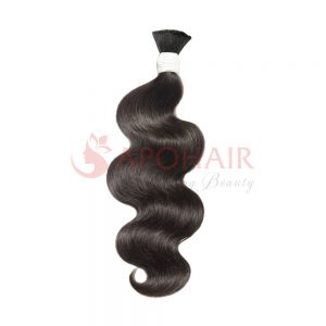 Bulk hair Water body wavy Black color