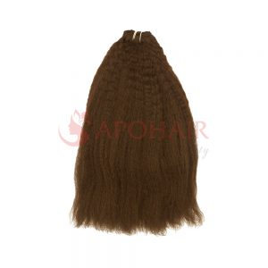 Weave kinky straight light brown