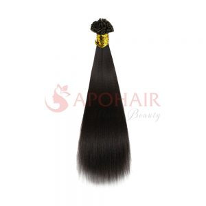 flat tip yaki straight black