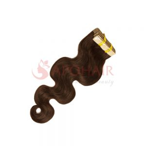 Tape hair Water body wavy Brown color