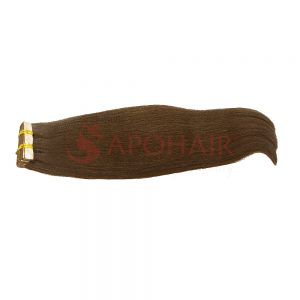 Tape hair Yaki straight Brown color