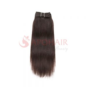 weave yaki straight dark brown