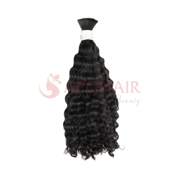 Bulk hair Deep wavy Black color