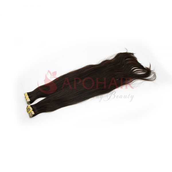 Tape hair Straight Black color