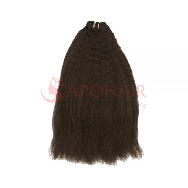 Weave kinky straight dark brown