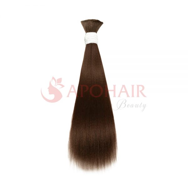 Bulk hair Yaki straight brown color