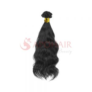 V tip Natural Wavy black 01