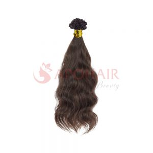 V tip Natural Wavy dark brown 01