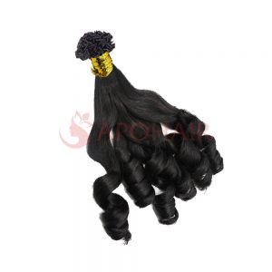 V tip bouncy wavy black