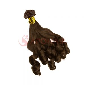V tip bouncy wavy brown