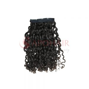 clip in romantic curly black
