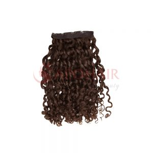 clip in romantic curly brown