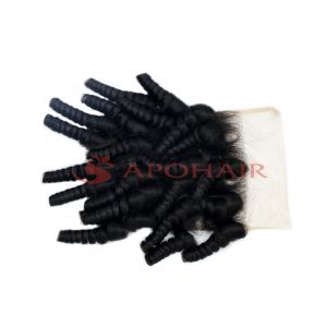 closure kinky curly black 4x4