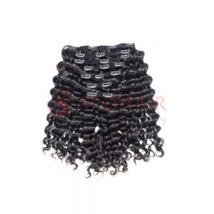 Clip-in hair Deep wavy Black color