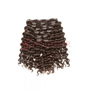 Clip-in hair Deep wavy Brown color