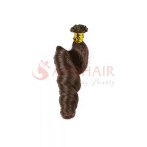 flat tip bouncy wavy brown