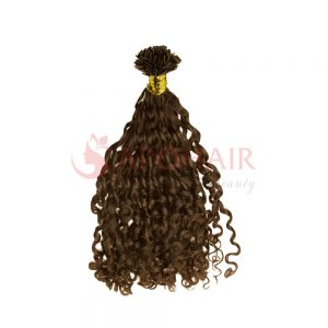 flat tip romantic curly brown