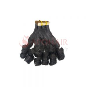 Tape hair Bouncy wavy Black color