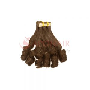 Tape hair Bouncy wavy Brown color