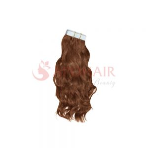 Tape hair Natural wavy Brown color
