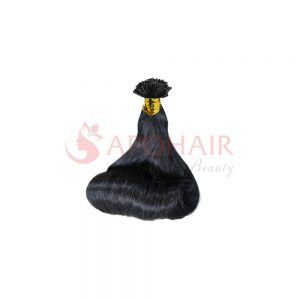 U-tip hair Fumi wavy black color