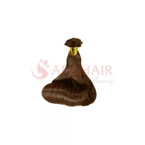 U-tip hair Fumi wavy Brown color