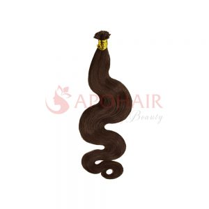 U-tip hair Water body wavy Black color