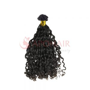 v tip romantic curly black