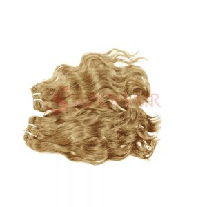 weave natural wavy blonde