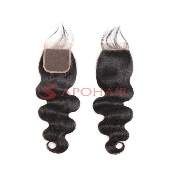 lace closure water body wavy black 4x4
