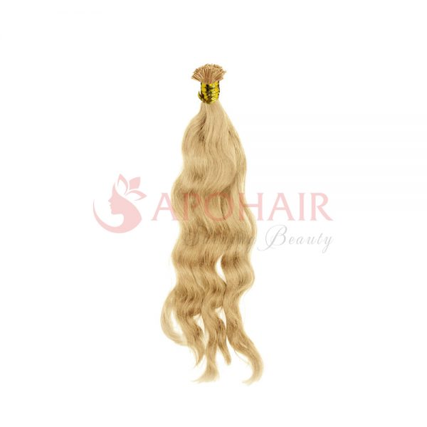 u tip natural aU-tip hair Natural wavy Blonde colorwavy blonde 01
