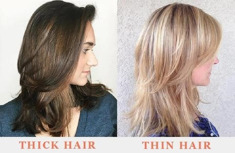 Thick and thin hair