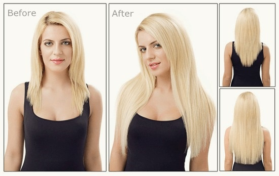 clip in before and after