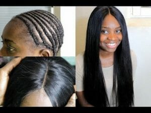 middle part sew in with no leave out