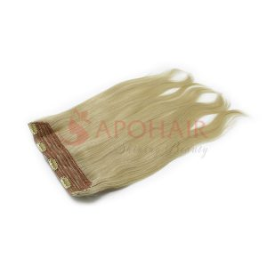 24 inch clip in blonde color