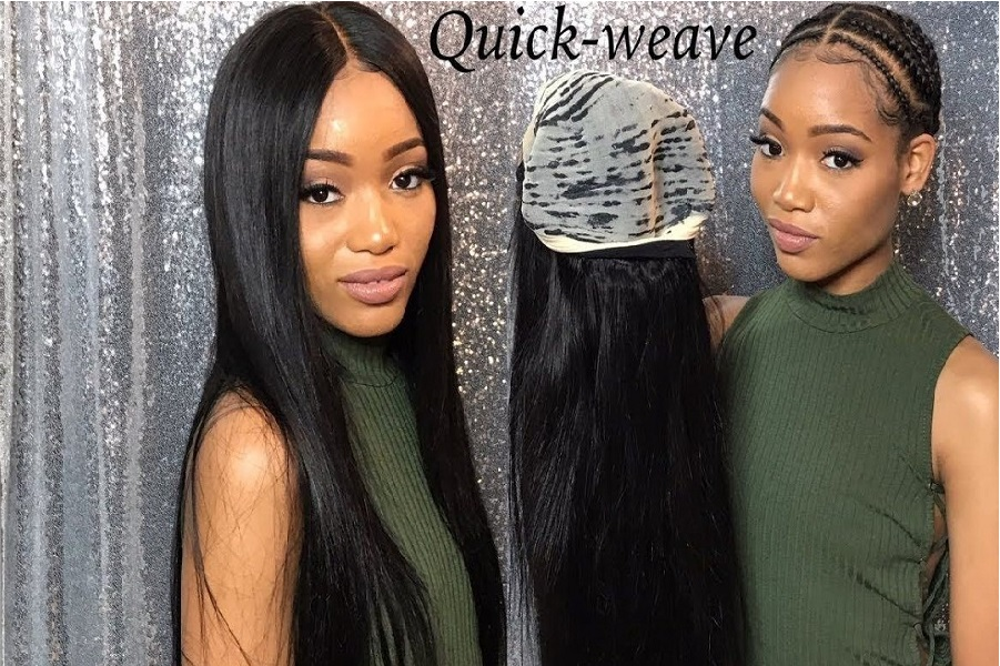 Curly glue in weave hairstyles & Benefits of quick weave ...