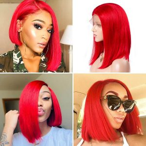 short red lace front wig