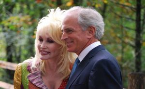 Dolly Parton with her husband