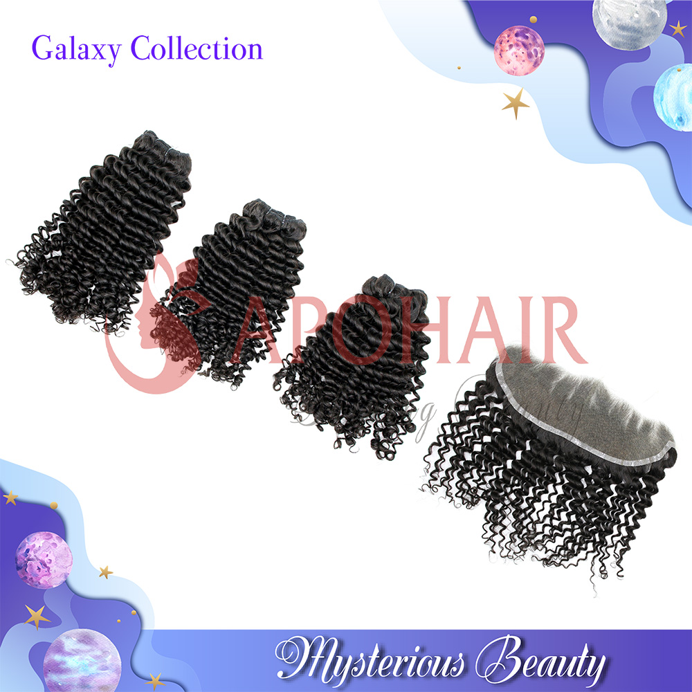 Galaxy Collection loose curly bundle deals human hair